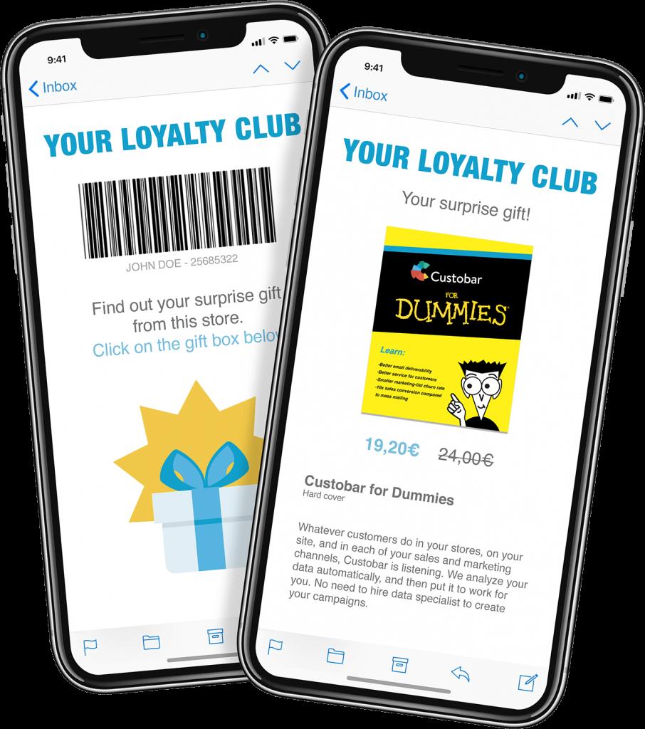 Custobar mobile loyalty card view